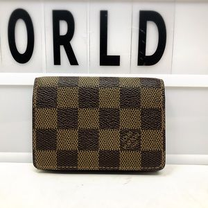 Louis Vuitton Cartes Damier Ebene Card Case Wallet